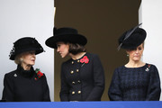 Britain's Catherine, Duchess of Cambridge, (C), Britain's Katharine, Duchess of Kent (L) and Britain's Sophie, Countess of Wessex (R) attend the Remembrance Sunday ceremony at the Cenotaph on Whitehall in central London, on November 12, 2017..Services are held annually across Commonwealth countries during Remembrance Day to commemorate servicemen and women who have fallen in the line of duty since World War I. / AFP PHOTO / Tolga AKMEN