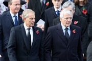 Tony Blair and John Major during the annual Remembrance Sunday memorial on November 12, 2017 in London, England.  The Prince of Wales, senior politicians, including the British Prime Minister and representatives from the armed forces pay tribute to those who have suffered or died at war.