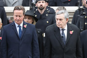 Gordon Brown and David Cameron during the annual Remembrance Sunday memorial on November 12, 2017 in London, England.  The Prince of Wales, senior politicians, including the British Prime Minister and representatives from the armed forces pay tribute to those who have suffered or died at war.
