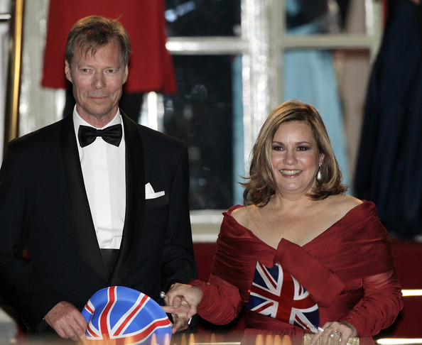 Henri, Grand Duke of Luxembourg (L) and Maria Teresa, Grand Duchess of Luxembourg attend a gala pre-wedding dinner held at the Mandarin Oriental Hyde Park on April 28, 2011 in London, England.