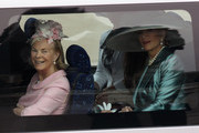 Katharine, Duchess of Kent (L) and Princess Michael of Kent travel past Buckingham Palace on their way to attend the Royal Wedding of Prince William to Catherine Middleton at Westminster Abbey on April 29, 2011 in London, England. The marriage of the second in line to the British throne is to be led by the Archbishop of Canterbury and will be attended by 1900 guests, including foreign Royal family members and heads of state. Thousands of well-wishers from around the world have also flocked to London to witness the spectacle and pageantry of the Royal Wedding.