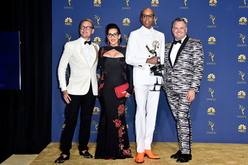 RuPaul Andre Charles Michelle Visage 70th Emmy Awards - Press Room