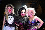 Cast members (L-R) Adore Delano, Bianca Del Rio and Courtney Act celebrate after Del Rio was declared the winner and Delano and Act runners-up of season six of 'RuPaul's Drag Race' during a viewing party for the show's finale at the New Tropicana Las Vegas on May 19, 2014 in Las Vegas, Nevada.