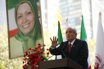 Rudolph Giuliani Rally Organized to Protest Against Iran and Syria