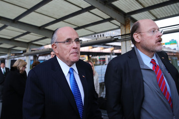 Rudolph Giuliani Joe Lhota Campaigns One Day Before Election