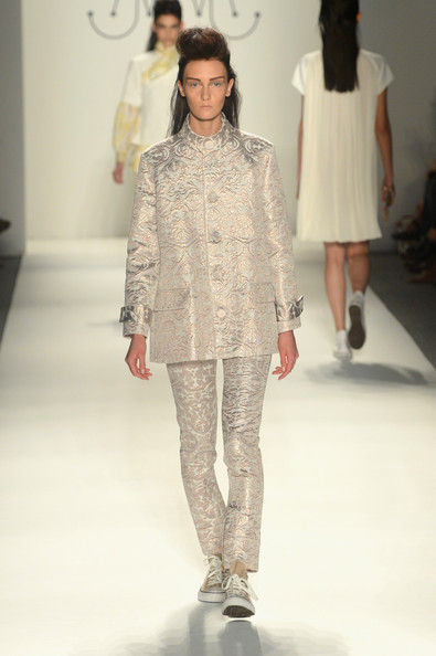 Ruffian Spring 2013 Show Report: Big Hair, Bold Brows & Blingin' Nails (Plus Lots of Brocades)