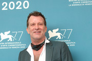 """Thomas Jane attends the photocall of the movie """"Run Hide Fight"""" at the 77th Venice Film Festival on September 10, 2020 in Venice, Italy."""