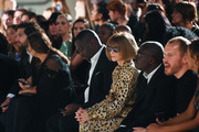 Anna Wintour and Edward Enninful watch from the front row during the Fashion For Relief catwalk show London 2019 at The British Museum on September 14, 2019 in London, England.