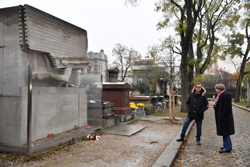 Rupert Everett 'The Happy Prince' Photo Session At Pere Lachaise Cemetery In Paris