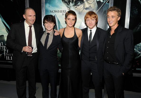 "Tom Felton and Rupert Grint - ""Harry Potter And The Deathly Hallows: Part 1"" New York Premiere - Inside Arrivals"