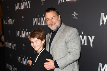 Russell Crowe Tennyson Spencer Crowe 'The Mummy' Australian Premiere - Arrivals
