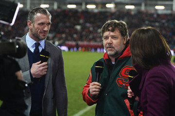 Russell Crowe St Helens v South Sydney Rabbitohs