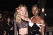 "Maggie Laine and Zuri Tibby attend the U.S. book launch of ""Backstage Secrets By Russell James"" hosted by Russell James and Ed Razek on May 31, 2018 in New York City."