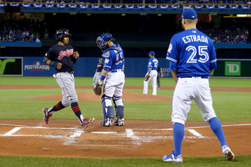Russell Martin ALCS - Cleveland Indians v Toronto Blue Jays - Game Five
