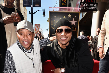 Russell Simmons LL Cool J Honored With Star on the Hollywood Walk of Fame