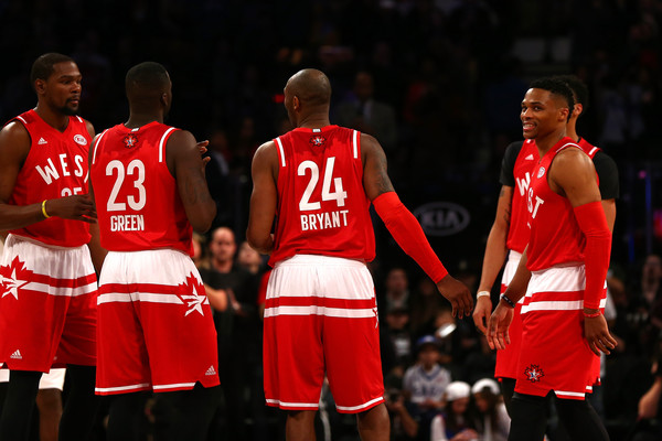 176584f9 Russell Westbrook and Kobe Bryant Photos Photos - NBA All-Star Game ...