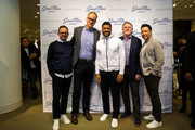 Nordstrom co-president Pete Nordstrom and Seattle Seahawks quarterback Russell Wilson pose for a photo at Nordstrom on February 29, 2016 in Seattle, Washington.