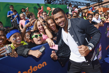 Russell Wilson Nickelodeon Kids' Choice Sports Awards 2015 - Red Carpet