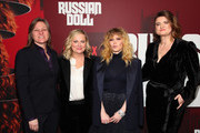 """(L-R) VP Original Series, Netflix Cindy Holland, Amy Poehler, Natasha Lyonne and Leslye Headland attend the """"Russian Doll"""" Premiere at The Metrograph on January 23, 2019 in New York City."""