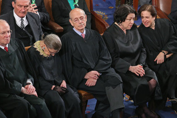 Ruth Bader Ginsburg Elena Kagan President Obama Delivers State Of The Union Address