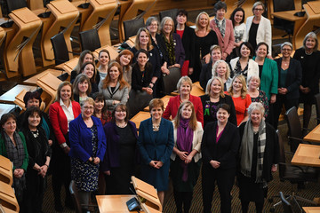 Ruth Davidson Female MSPs Commemorate 100 Years of Women's Suffrage