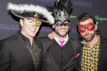 Ryan Clark Guests Arrive to the Dom Perignon Masquerade Party