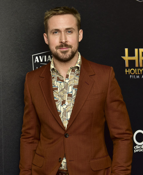 22nd Annual Hollywood Film Awards - Press Room [facial hair,suit,beard,outerwear,blazer,formal wear,tuxedo,premiere,jacket,white-collar worker,ryan gosling,22nd annual hollywood film awards - press room,press room,beverly hills,california,annual hollywood film awards]