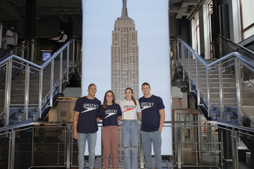 Ryan Murphy Olympic Medal-Winning Swimmers Caeleb Dressel, Abby Weitzeil, And Regan Smith Visit The Empire State Building Upon Returning From Tokyo