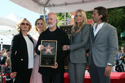 (L-R) Jessica Lange, Sarah Paulson, Ryan Murphy, Gwyneth Paltrow and Brad Falchuk attend a ceremony honoring Ryan Murphy with a star on The Hollywood Walk of Fame on December 04, 2018 in Hollywood, California.