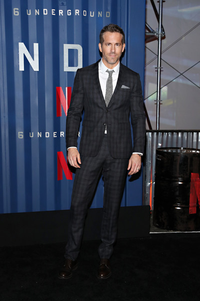 "Netflix's ""6 Underground"" New York Premiere [suit,formal wear,tuxedo,carpet,event,white-collar worker,blazer,premiere,outerwear,pantsuit,ryan reynolds,6 underground,new york,the shed,netflix,premiere,new york premiere]"