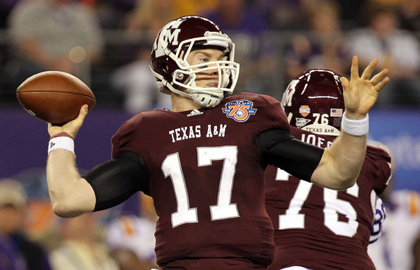 Ryan Tannehill Quarterback Ryan Tannehill #17 of the Texas A&M Aggies throws against the LSU Tigers during the AT&T Cotton Bowl at Cowboys Stadium on January 7, 2011 in Arlington, Texas.