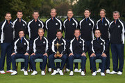 The European Team, back row L-R: Sergio Garcia, Martin Kaymer, Lee Westwood, Peter Hanson, Ian Poulter, Justin Rose, Nicolas Colsaerts, Paul Lawrie, front row L-R: Rory McIlroy, Luke Donald, Jose Maria Olazabal (captain), Graeme McDowell, Francesco Moilinari pose for an official photograph during the second preview day of The 39th Ryder Cup at Medinah Country Golf Club on September 25, 2012 in Medinah, Illinois.