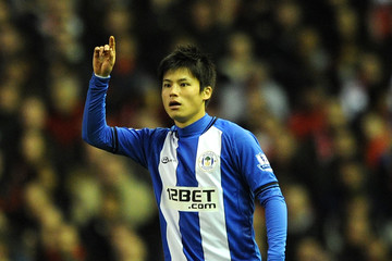 Ryo Miyaichi Liverpool v Wigan Athletic - Premier League