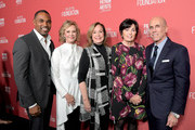 (L-R) Jason Winston George, SAG-AFTRA Foundation President JoBeth Williams, SAG-AFTRA Foundation Executive Director Cyd Wilson, Marilyn Katzenberg, and Jeffrey Katzenberg attend the SAG-AFTRA Foundation's 3rd Annual Patron of the Artists Awards at the Wallis Annenberg Center for the Performing Arts on November 8, 2018 in Beverly Hills, California.