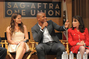 Actors Melissa Claire Egan, Redaric Williams and Kate Linder participate in the 40 years of 'The Young and The Restless' celebration and panel discussion presented by SAG-AFTRA at SAG-AFTRA on June 4, 2013 in Los Angeles, California.