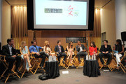 (L-R) Actors Peter Bergman, Sharon Case, Michael Muhney, Tarcey E. Bregman  Greg Rikaart, Melissa Claire Egan, Redaric Williams, Kate Linder, Daniel Goddard and moderator Pat Harvey attend the 40 years of 'The Young and The Restless' celebration presented by SAG-AFTRA at SAG-AFTRA on June 4, 2013 in Los Angeles, California.