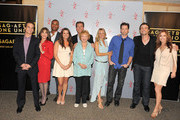 (L-R) Actors Greg Rikaart, Kate Linder, Redaric Williams, Melissa Claire Egan, Peter Bergman, co-creator Lee Phillips Bell, Sharon Case, Michael Muhney, Daniel Goddard and Tracey E. Bregman attend the 40 years of 'The Young and The Restless' celebration presented by SAG-AFTRA at SAG-AFTRA on June 4, 2013 in Los Angeles, California.