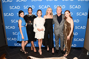 "(L-R) Nina Kiri, Amanda Brugel, Sydney Sweeney, Ever Carradine, Robert Curtis Brown and Alexis Bledel attend SCAD FASH premiere of ""The Handmaid's Tale"" Exhibition at SCADshow on April 30, 2018 in Atlanta, Georgia."