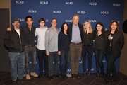 "Writer Scott Kosar, Writer Philip Buiser, Actor and Writer Freddie Highmore, Writer Steve Kornacki,  Writer Alyson Evans, Executive Producer Carlton Cuse, Writer Torrey Speer, Writer Erica Lipez, Executive Producer Kerry Ehrin attend the ""Bates Motel"" event during aTVfest 2016 presented by SCAD on February 6, 2016 in Atlanta, Georgia."