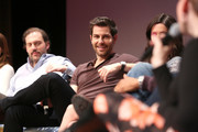 """Actor Silas Weir Mitchell and Actor David Giuntoli speak at the """"Grimm"""" event during aTVfest 2016 presented by SCAD on February 7, 2016 in Atlanta, Georgia."""