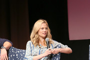 """Actress Claire Coffee speak at the """"Grimm"""" event during aTVfest 2016 presented by SCAD on February 7, 2016 in Atlanta, Georgia."""
