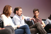 """Actress Bree Turner, Actor Silas Weir Mitchell, and Actor David Giuntoli speak at the """"Grimm"""" event during aTVfest 2016 presented by SCAD on February 7, 2016 in Atlanta, Georgia."""