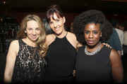 Associate producer Katie DiMento, Writer/Producer Ingrid Escajeda and actress Uzo Aduba attend the final reception at TAP during aTVfest on February 8, 2014 in Atlanta, Georgia.
