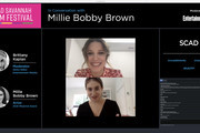 In this screengrab Millie Bobby Brown and Brittany Kaplan speak during In Conversation with Millie Bobby Brown Maverick Award Presentation during SCAD Savannah Film Festival Day 5 on October 28, 2020 in Savannah, Georgia.