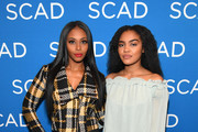 Actors Nafessa Williams (L) and China Anne McClain attend a screening and Q&A for 'Black Lightning' on Day 3 of the SCAD aTVfest 2018 on February 3, 2018 in Atlanta, Georgia.