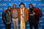 (L-R) Marcc Rose, Bokeem Woodbine, Anthony Hemingway, and Wavyy Jonez attend a screening and Q&A for 'Unsolved: The Murders of Tupac and the Notorious B.I.G.' on Day 2 of the SCAD aTVfest 2018 on February 2, 2018 in Atlanta, Georgia.