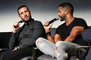 """Actors Pablo Schreiber and Ricky Whittle speak onstage at the """"American Gods' screening during SCAD aTVfest 2019 at SCADshow on February 8, 2019 in Atlanta, Georgia."""