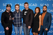 A.J. Buckley, Max Thieriot, David Boreanaz, Toni Trucks, and Neil Brown Jr. attend the SEAL Team Award Presentation at SCADshow on February 09, 2019 in Atlanta, Georgia.