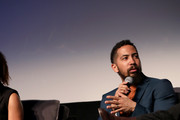 """Actor Neil Brown Jr. speaks onstage at the """"SEAL Team"""" Q&A during SCAD aTVfest 2019 at SCADshow on February 09, 2019 in Atlanta, Georgia."""