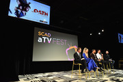 "Leona Lewis, Cory Hardrict, Ryan Kwanten, and Noah Nelson speak onstage at the ""The Oath"" panel during SCAD aTVfest 2019 at SCADshow on February 7, 2019 in Atlanta, Georgia."